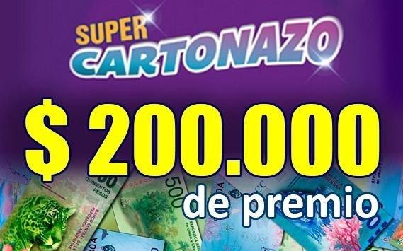 El Cartonazo quedó vacante y se armó un súper pozo de 200.000 pesos