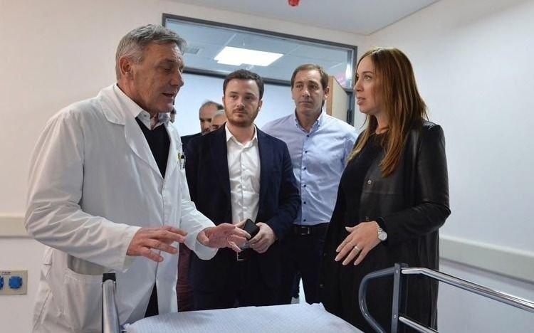 Visita sorpresa de Vidal al hospital San Juan de Dios