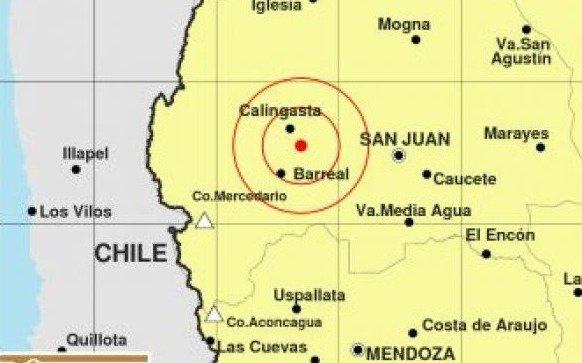 Un sismo sorprendió esta noche a Mendoza y San Juan