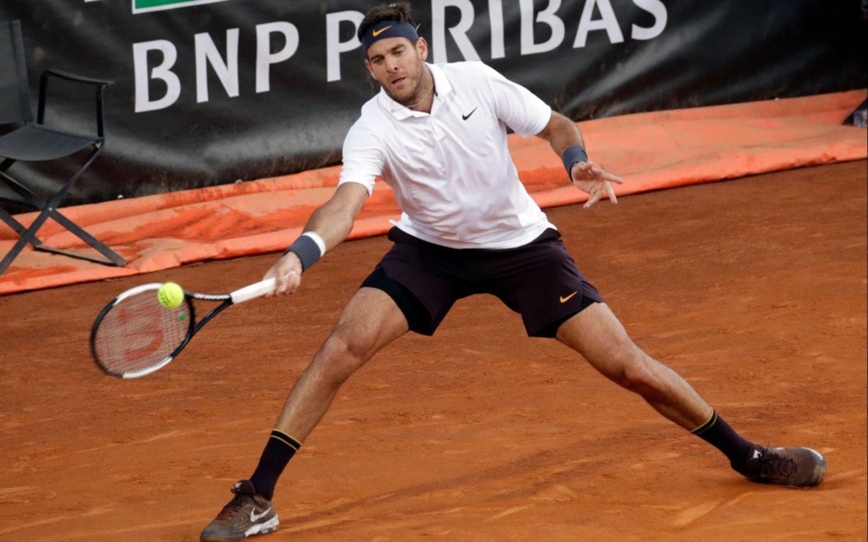 Del Potro ganó su segundo partido del día y se metió en los cuartos de Roma