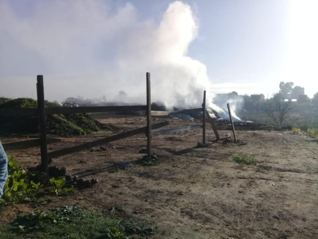 "Altos de San Lorenzo en ""modo humo"" por la quema de basura"