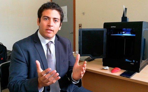 Un médico peruano creó un método para reconstruir un rostro con impresión 3D