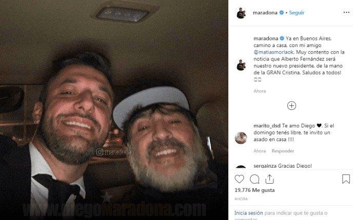 Maradona demorado en Ezeiza cuando llegó para operarse del hombro