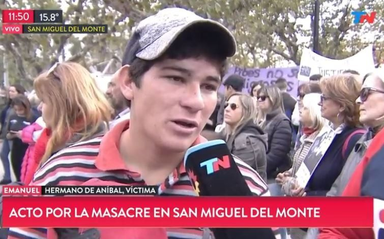"""Tragedia en Monte: el hermano de Aníbal habló de """"los 4 mil pesos que le pidió un comisario"""""""