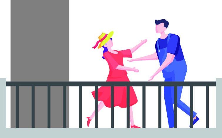 Tendencia: el arte en los balcones y en las redes