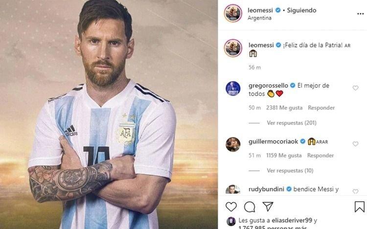 Cuál fue el mensaje de Lionel Messi por el 25 de Mayo