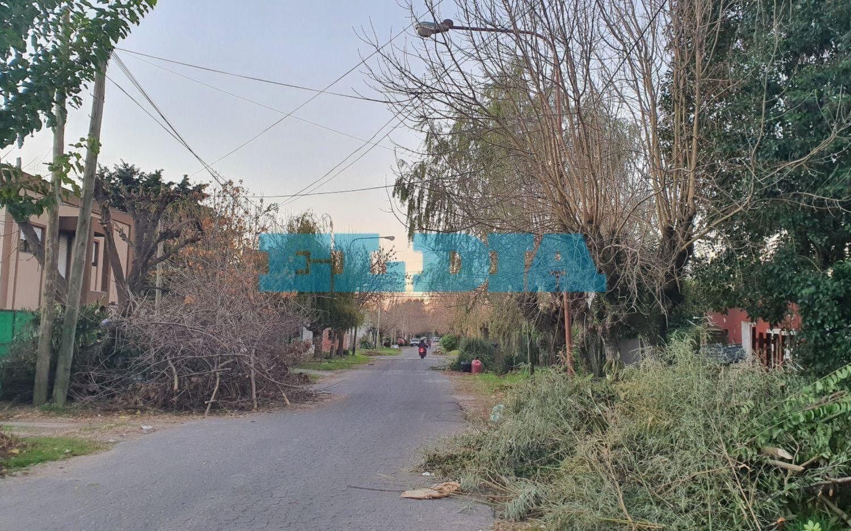"""Desde el 4 de febrero piden reparación de una luminaria: """"tenemos una calle muy peligrosa"""""""
