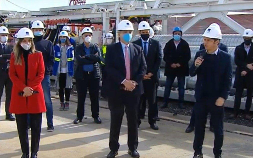 """""""Somos un habitante más de la Villa Azul"""", dijo Alberto Fernández junto a Kicillof"""