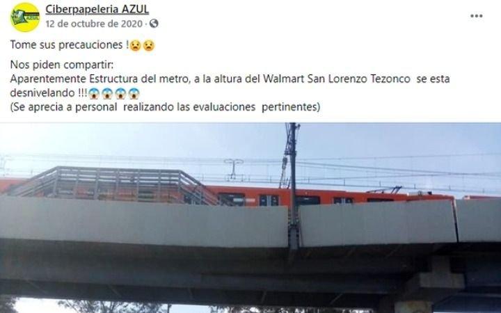 La foto y el mensaje que anticipó la tragedia al colapsar un puente en Ciudad de México