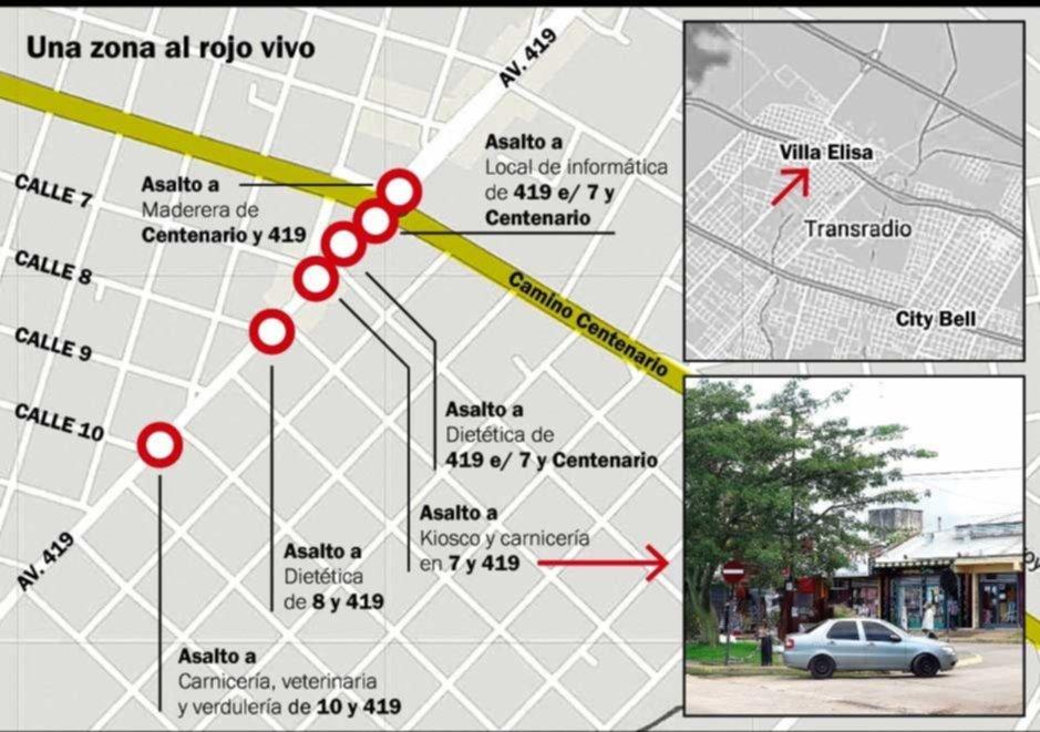 Preocupación por una ola de escruches nocturnos en comercios de Villa Elisa