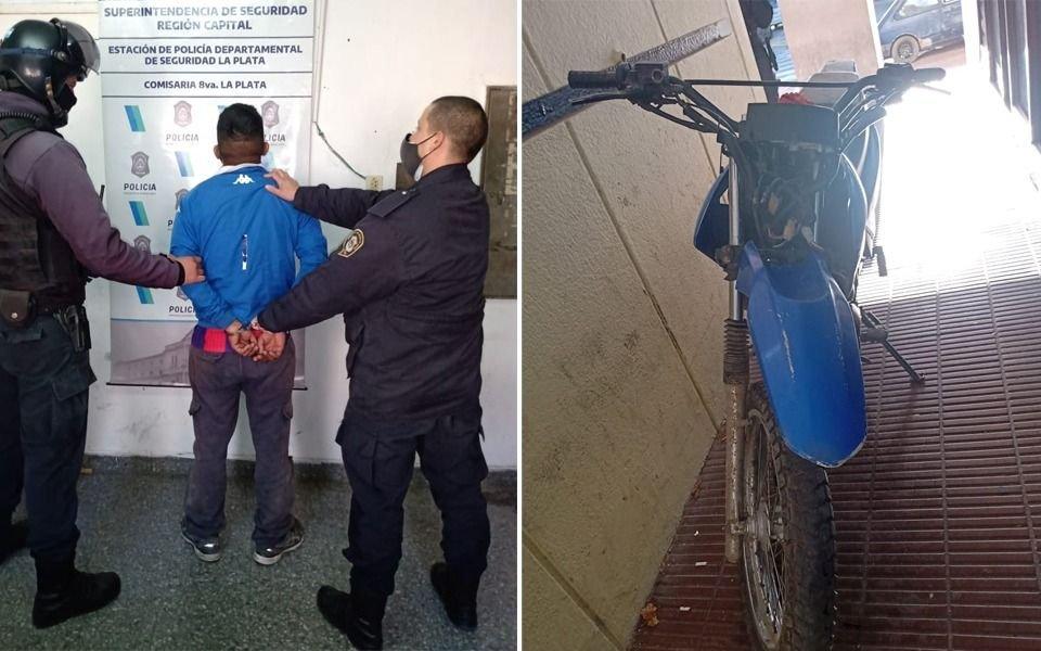 En una moto robada y a toda velocidad en Altos de San Lorenzo