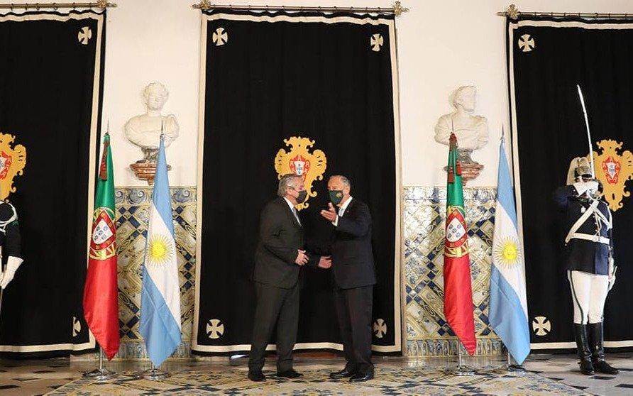 """Alberto Fernández: """"Venimos a ratificar nuestros acuerdos con Europa para que nos apoye en el desarrollo argentino"""""""