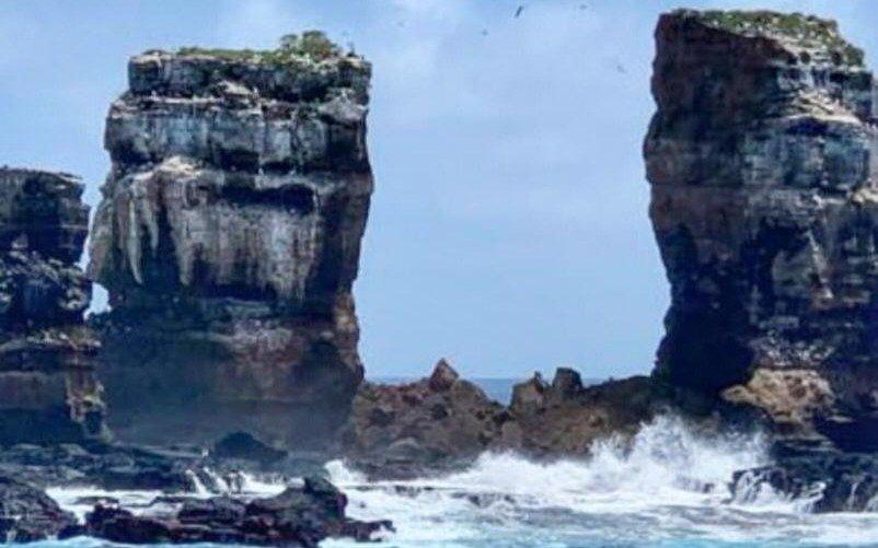 Colapsó el Arco de Darwin, icono geológico y turístico de Galápagos