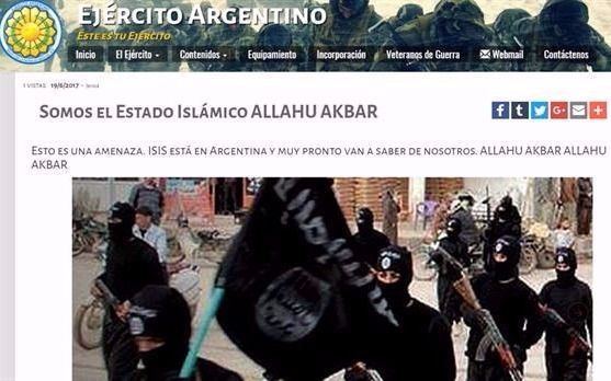 El Ejército se refirió al hackeo que sufrió su página web con referencias al Estado Islámico