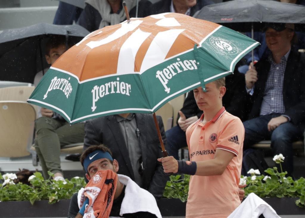 La lluvia fue protagonista en la jornada del Abierto Francés - Cielosports