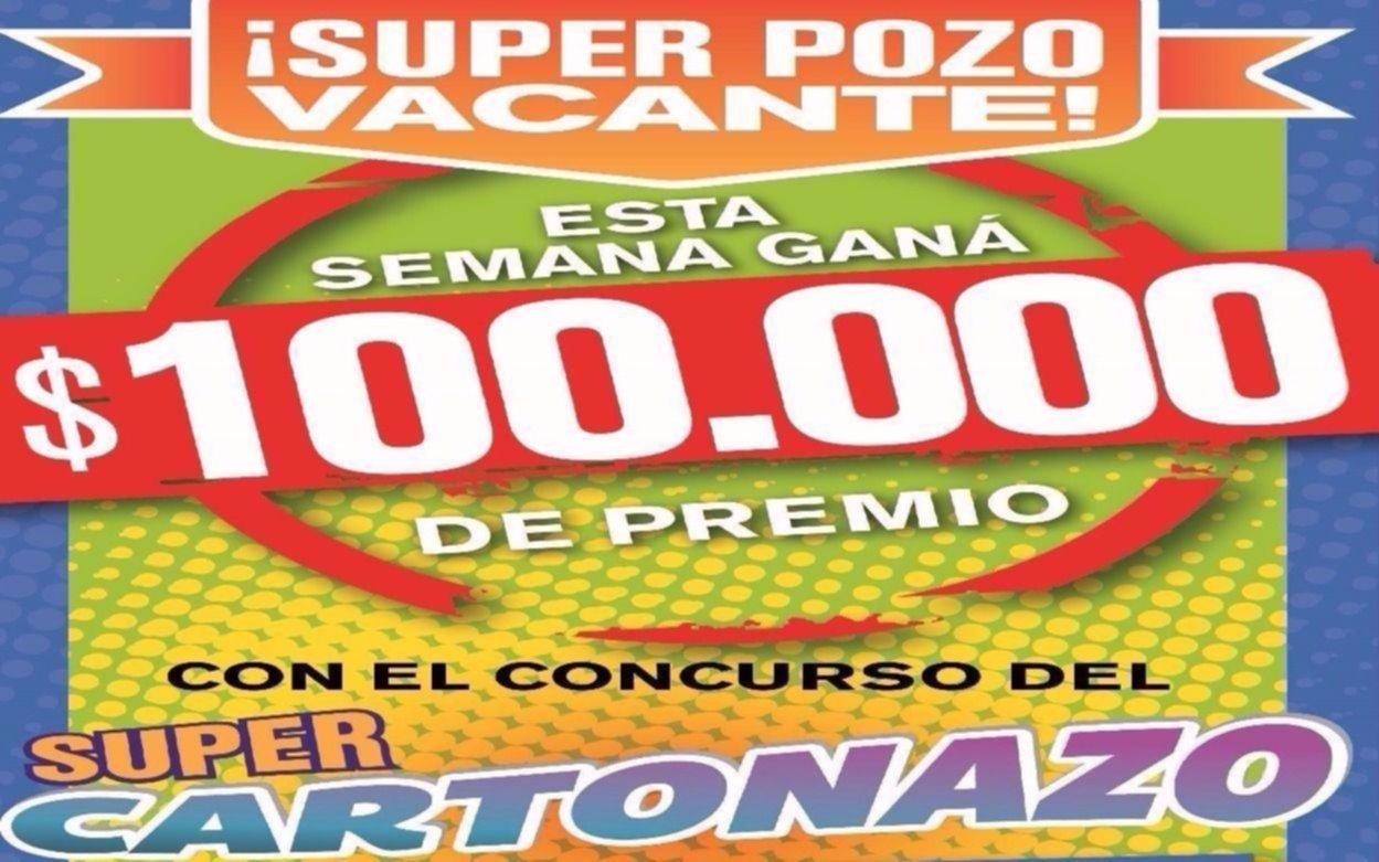 El Cartonazo quedó vacante y ahora están en juego 100 mil pesos