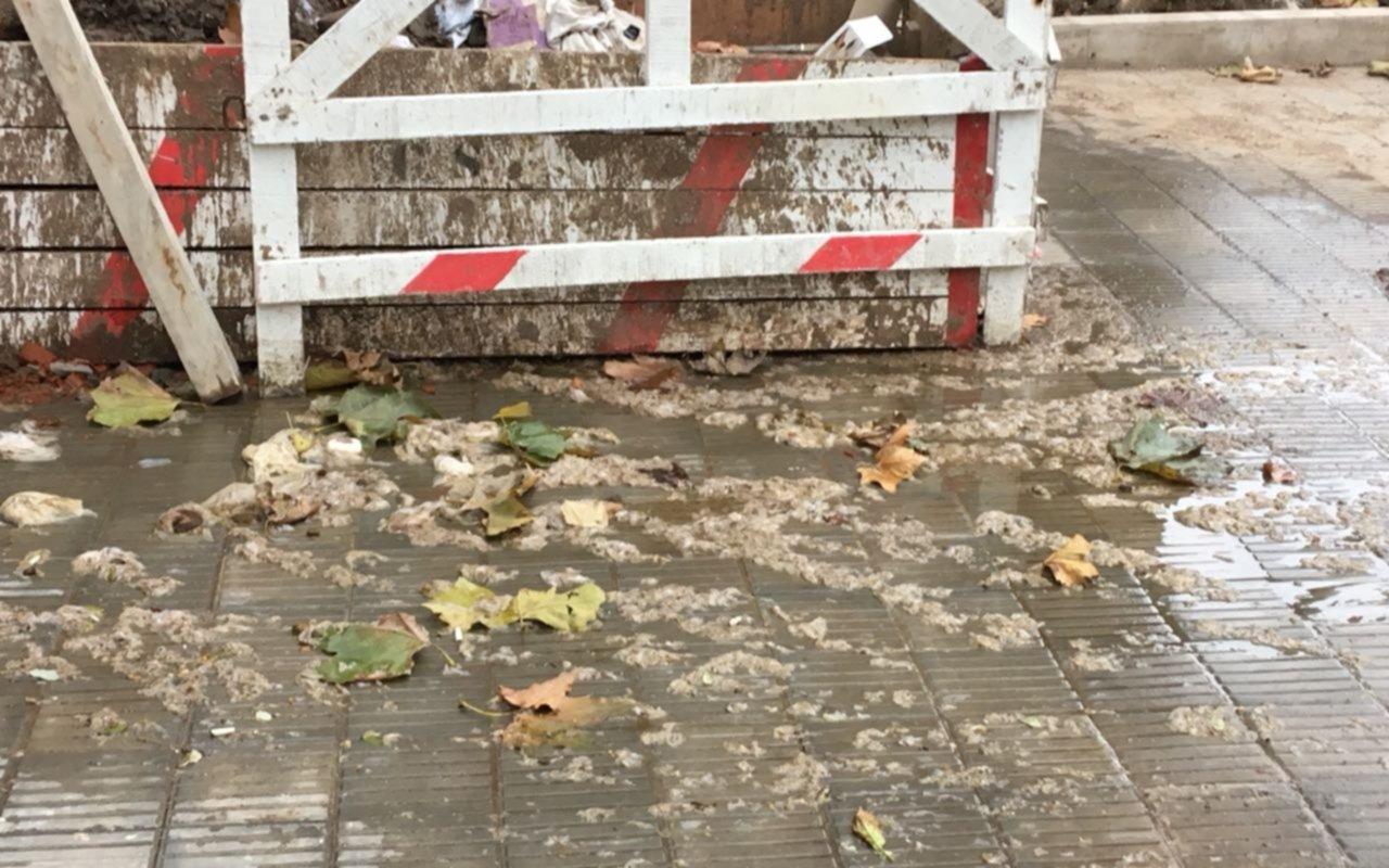 Denuncia vecinal por un desborde cloacal en calle 13 entre 43 y 44