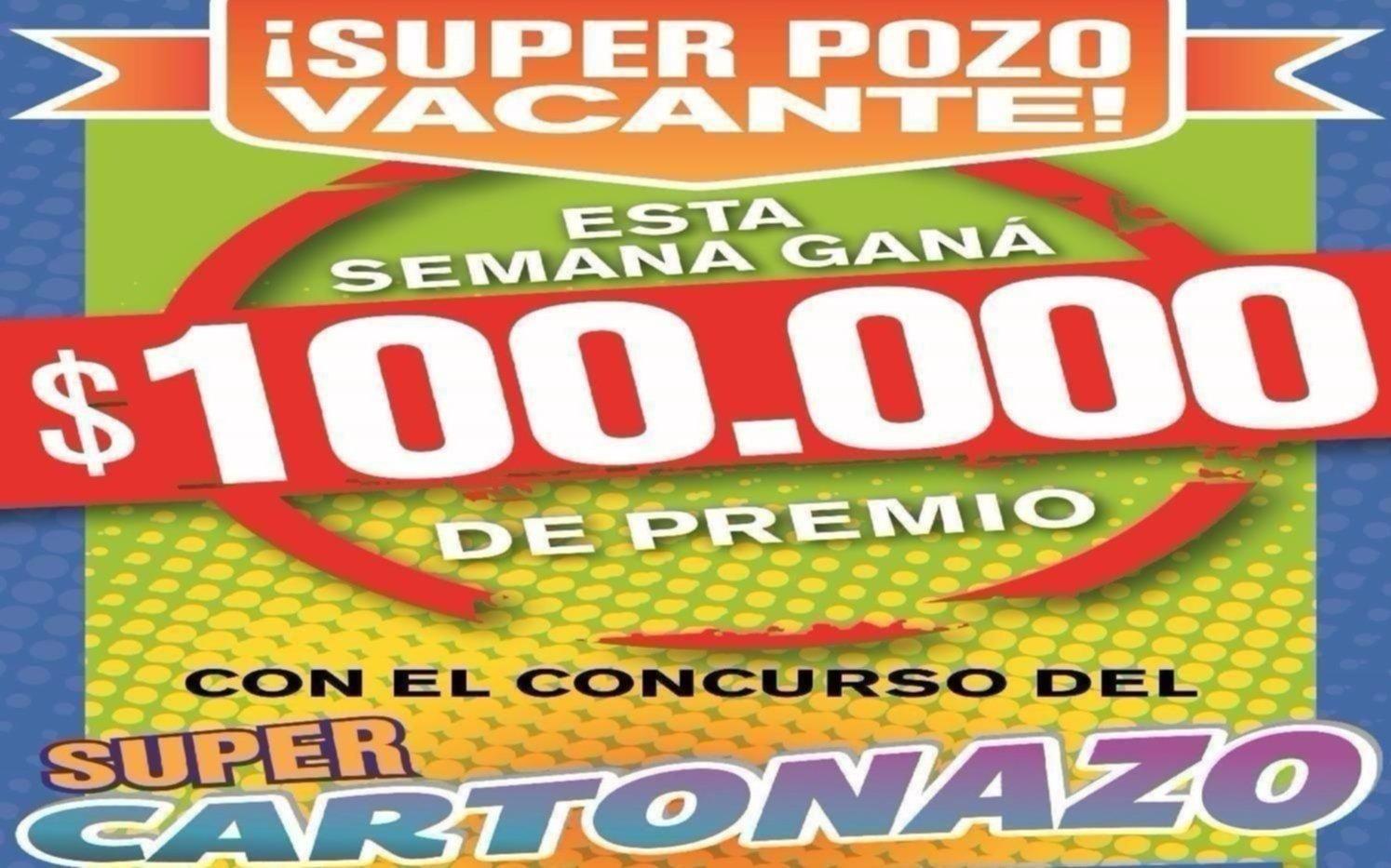 Sin ganadores en el Cartonazo, se formó un pozo doble por $100 mil para la nueva jugada