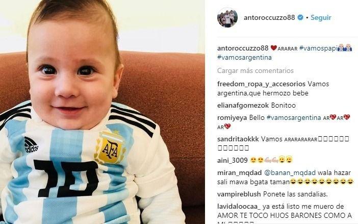 La emotiva fota de Antonela Roccuzzo con Messi y sus hijos