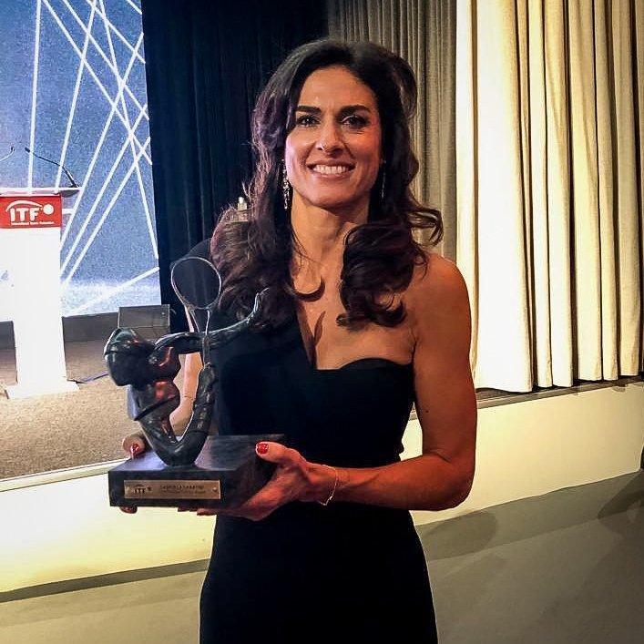 Sabatini recibe el máximo galardón de la ITF