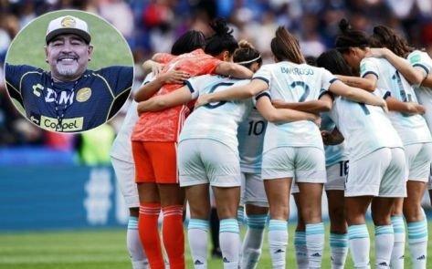 Mensaje de apoyo y un consejo de Maradona a la Selección femenina