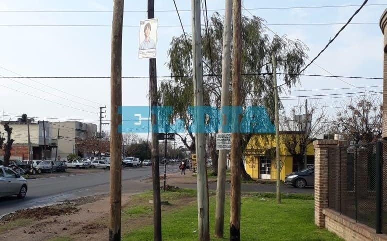 """Festival de postes en San Carlos: """"Ya ocupan más de la mitad de la vereda"""""""