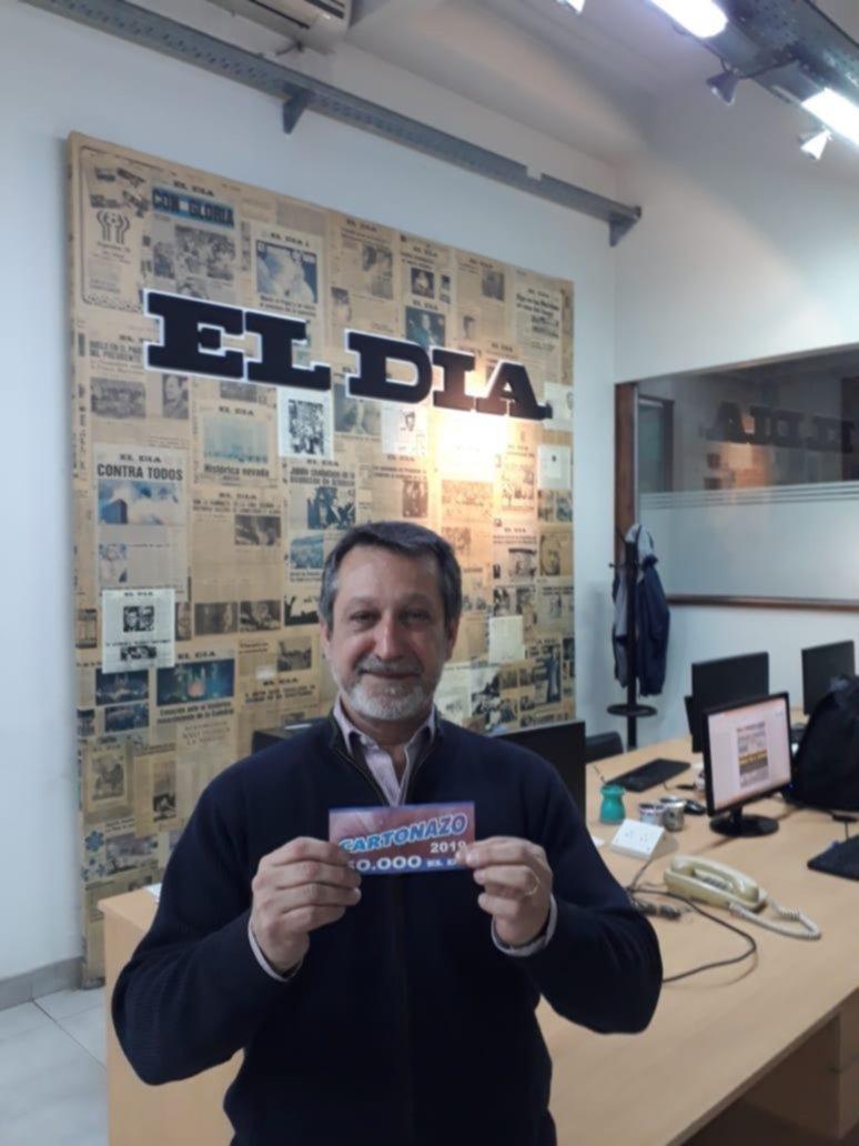 Un lector del Centro se quedó con el pozo de 50.000 pesos del Cartonazo de EL DIA