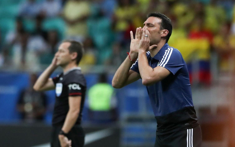 """Scaloni: """"En nuestro mejor momento nos hicieron el gol de contra"""""""