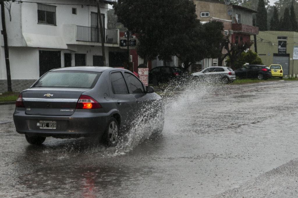 En seis días llovió cuatro veces más que el promedio de junio