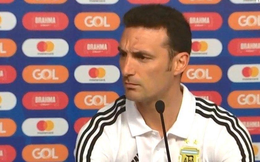 """Scaloni no confirmó el equipo y sostuvo que """"para nosotros la Copa todavía no empezó"""""""