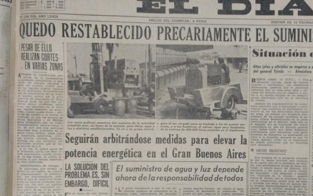 El histórico corte de 1962, al calor de un gran incendio y de una disputa militar