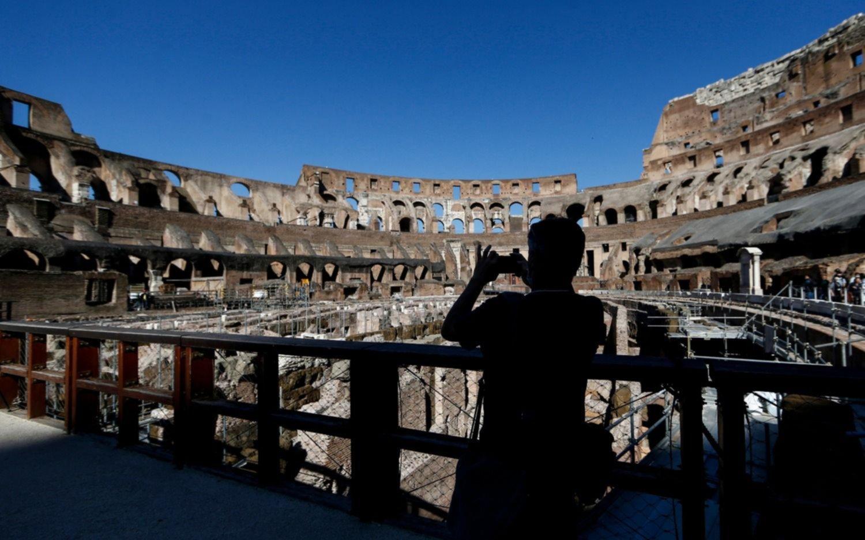 Así reabrieron el Coliseo Romano y el Vaticano, símbolos de la vuelta a la normalidad