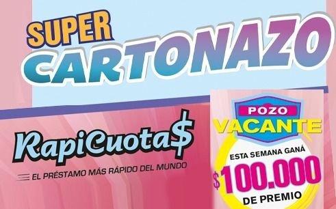 El Cartonazo quedó vacante y ahora se juega por 100.000 pesos