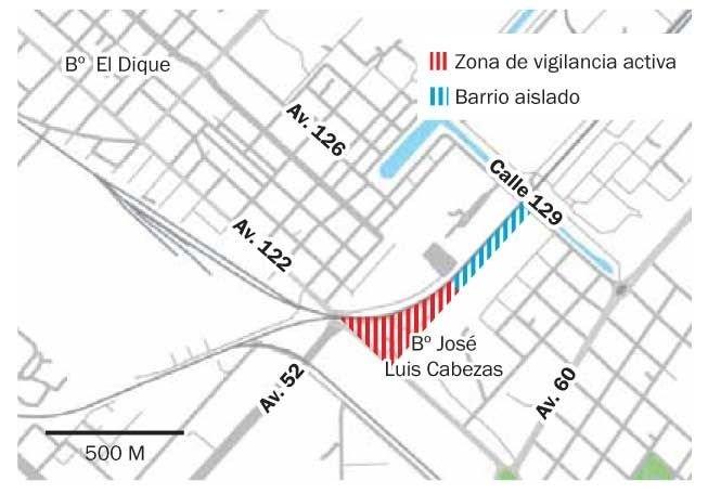 El coronavirus avanza en el barrio Cabezas: hay 37 casos y el sector crítico fue aislado