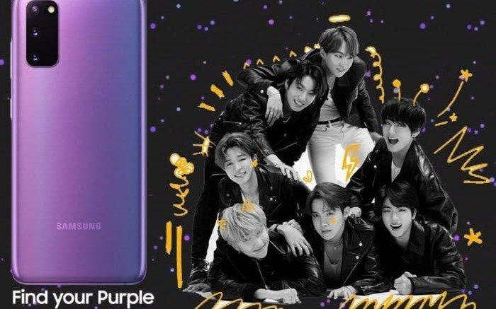 Samsung lanzó una edición especialpara fans del K-Pop y BTS