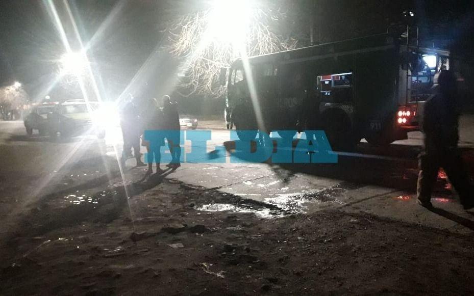Tensión en la zona del Hospital San Martín por el incendio en una cabina de gas