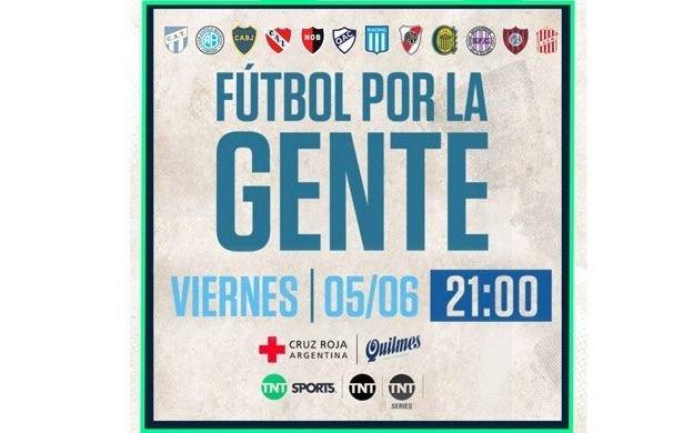 Clubes argentinos participan de una cruzada solidaria para la Cruz Roja