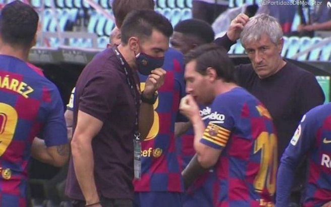 El video del desplante de Messi al ayudante del DT del Barcelona