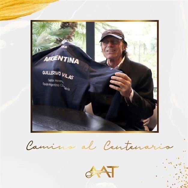 Merecido reconocimiento de la AAT a Guillermo Vilas