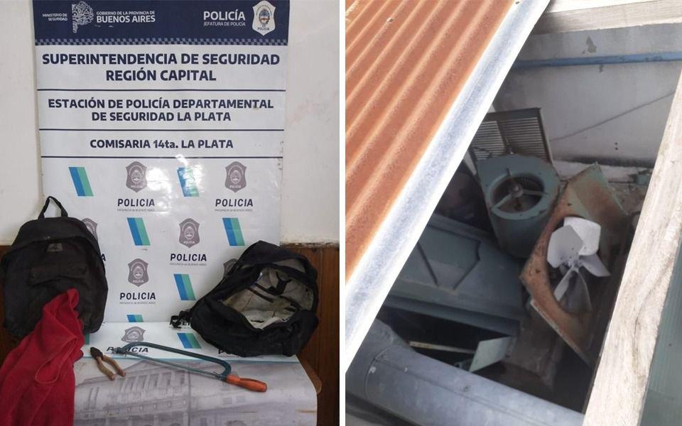 Se metió al hospital de Romero por el techos para robar metales: lo atraparon in fraganti