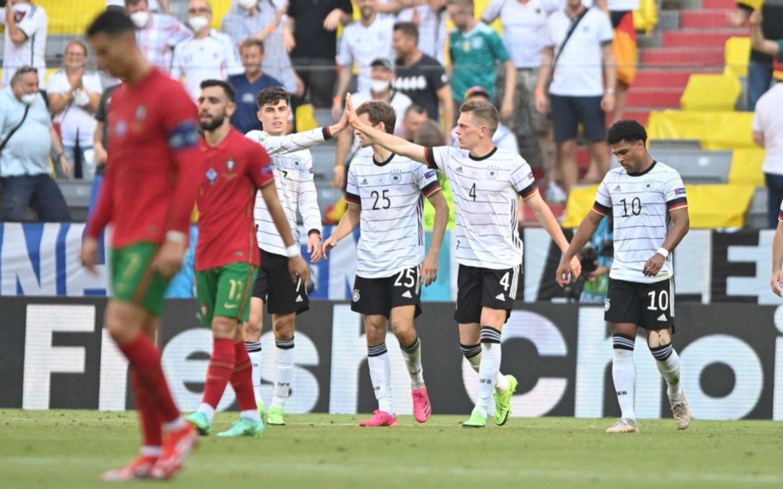 """El """"grupo de la muerte"""" de la Eurocopa está que arde: Francia empató con Hungría y Alemania vapuleó a Portugal"""