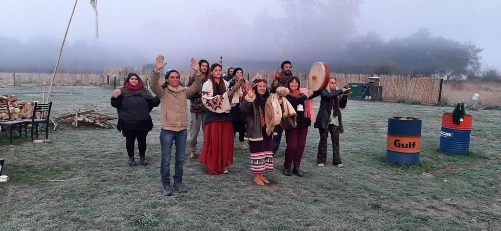 Colorida ceremonia de celebración de pueblos originarios en nuestra región