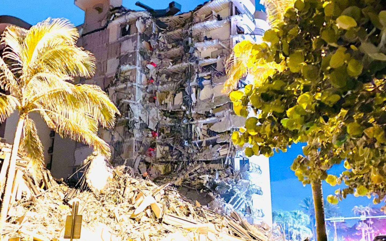 Derrumbe en Miami: dos famosos se salvaron de milagro