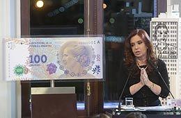 Cristina presentó nuevo billete de 100 pesos con la imagen de Eva Perón
