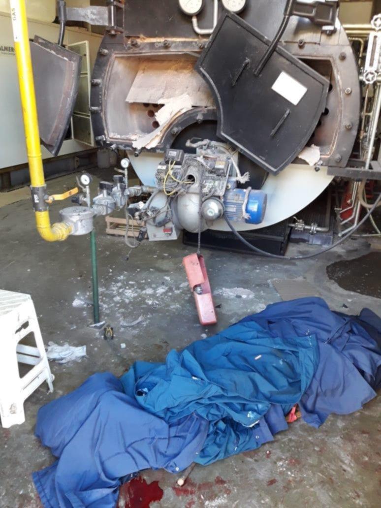 Un operario muerto y dos heridos por la explosión de una caldera