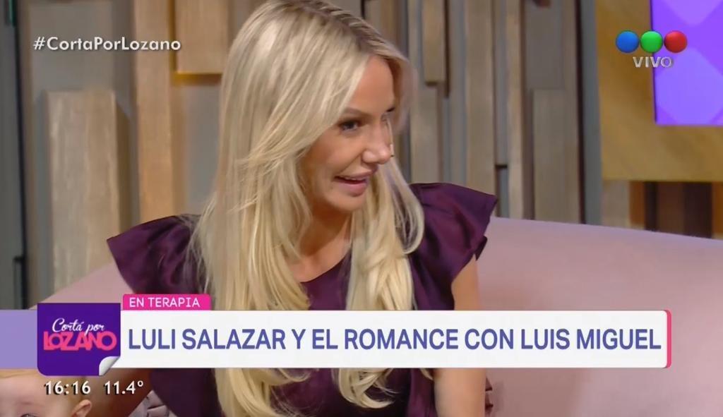Luciana Salazar habló de su encuentro íntimo con Luis Miguel