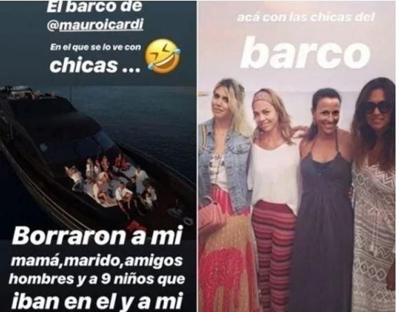 Wanda Nara indignada por las fotos de Mauro Icardi con otras mujeres