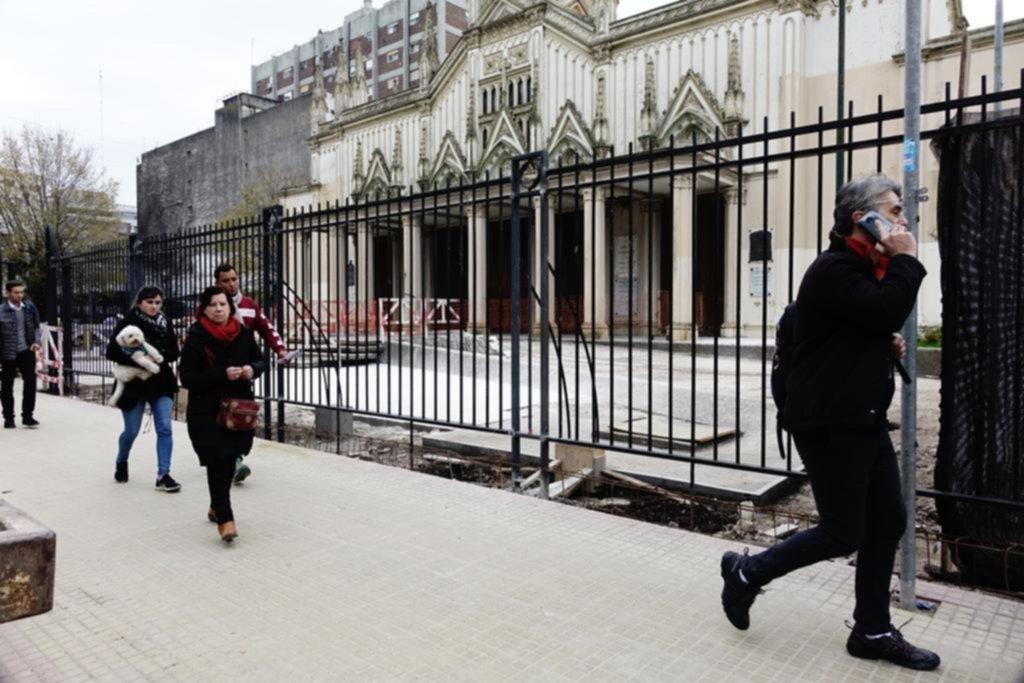 Avanzan con el enrejado y la obra de recuperación integral de la Basílica San Ponciano