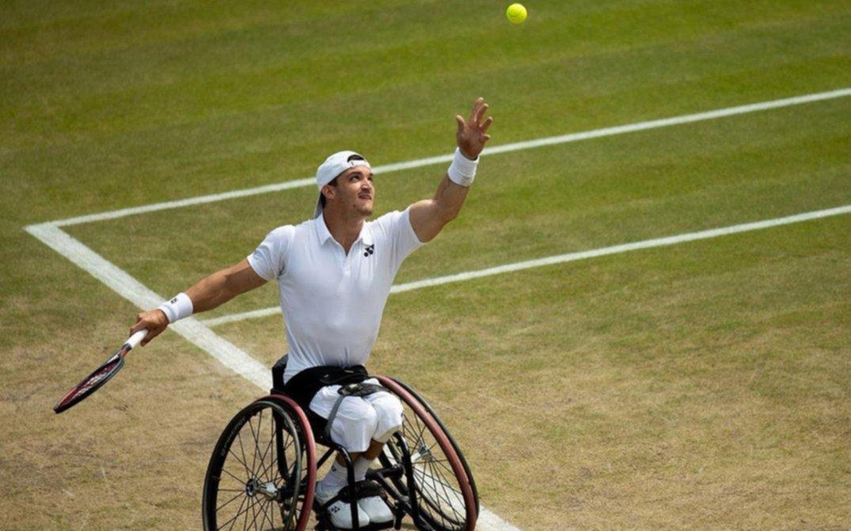 El argentino Fernández, a semifinales de Wimbledon en tenis adaptado