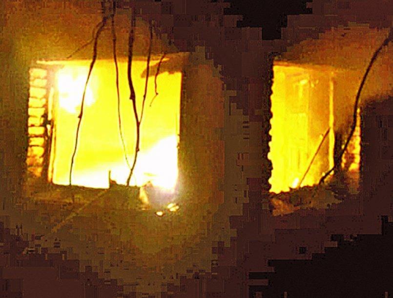 Rescataron a una perrita en medio de un incendio en una casa de El Peligro